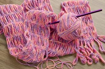 Crochet pattern with hook