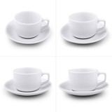 White coffee cup set - Stock Image