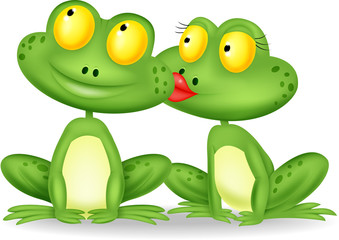 Frog kissing
