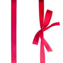 creimson red  ribbon with bow
