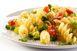 Pasta with parmesan and vegetables