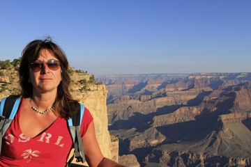femme au Grand Canyon, Arizona