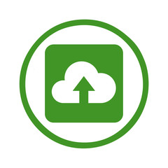Silhouette - web icon cloud upload symbol
