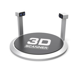 Empty 3D scanner with clipping path