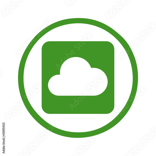 Silhouette - web icon cloud symbol