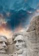 Mount Rushmore National Monument in South Dakota. Summer sunset