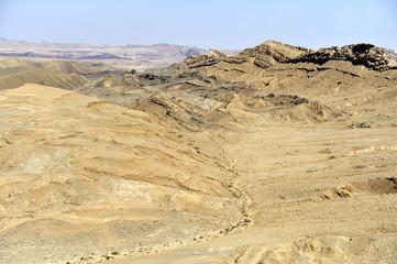 Ramon crater in Negev desert.