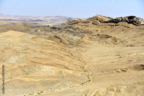 Ramon crater in Negev desert.