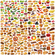 global food collage