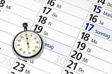 Kalender Uhr Zeitmanagement