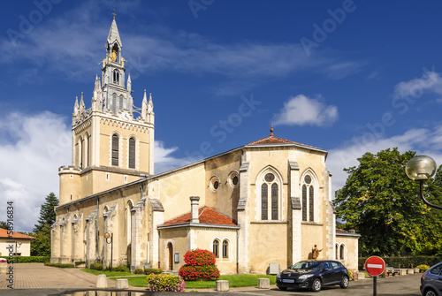 canvas print picture Kirche in Biscarosse 2