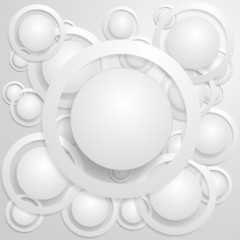 White circles with rings and shadow background