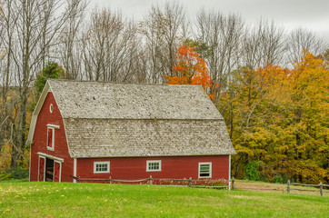 Red Barn and Autumn Colours