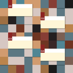 Vector abstract squares, infographic template