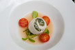 Poached  sea bass and spinach roulade