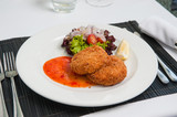 .Fishcake with sweet chilli sauce