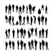 Vector Model Silhouettes of men. Part 8.