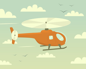 Helicopter. Vector illustration.