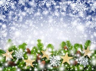 Weihnachtlicher Schneeflocken-Hintergrund