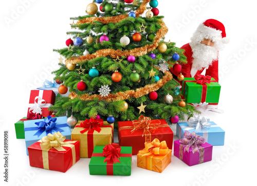 Der Weihnachtsmann bereitet die Geschenke vor