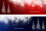 Fototapety 雪 クリスマス 背景 星 木 Christmas tree