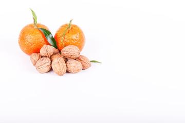 mandarine et noix