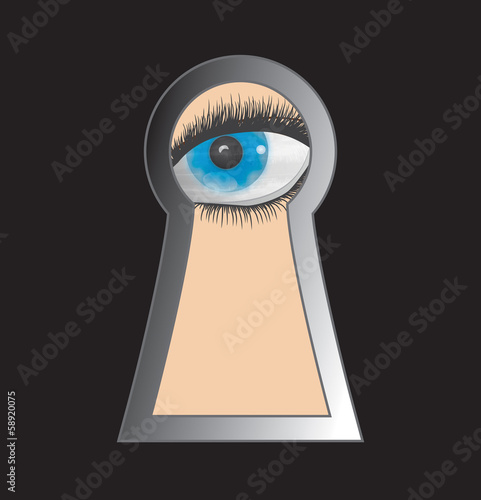 Peek through keyhole