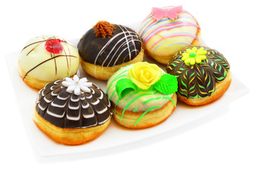 Six beautiful donuts