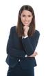 Frau in Bürokleidung - jung, dynamisch, erfolgreich, isoliert
