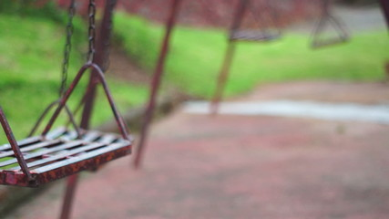 Old Deserted Park Swings