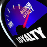 Loyalty Fuel Gauge Measure Customer Retention Level
