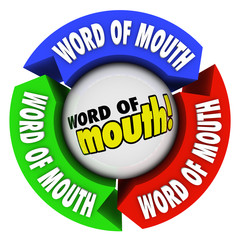 Word of Mouth Arrows Spreading Referral Opinion