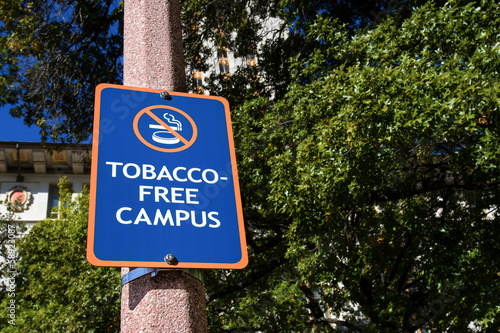 Tobacco Free Campus Sign