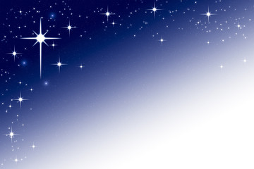 Christmas Night Sky Background Frame with Stars Blue White Gradi