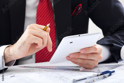 Businessman accounting
