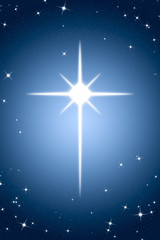Christmas Star on Gradient Background