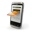 Mobile banking. Mobile phone as atm and credit card.