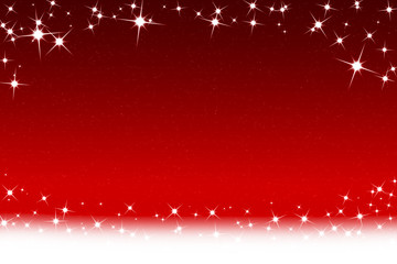 Christmas Stars And Snowflakes Red White Background