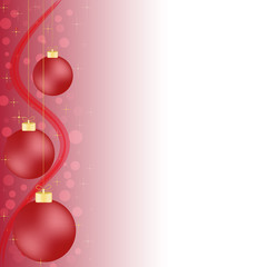 sfondo natalizio palline luci e stelline rosso e oro
