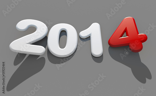 canvas print picture new year 2014 logo