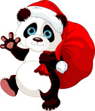 Panda with a sack full of gifts