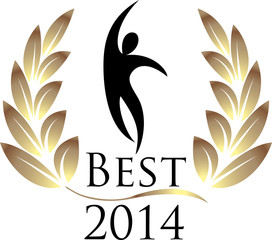Best 2014 isolated logo