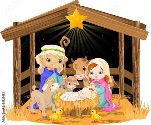 Holy Family at Christmas night