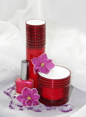 Cosmetics and different creams