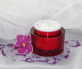 Face cream and violet