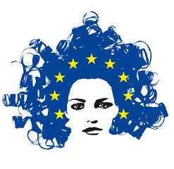 Europe woman.