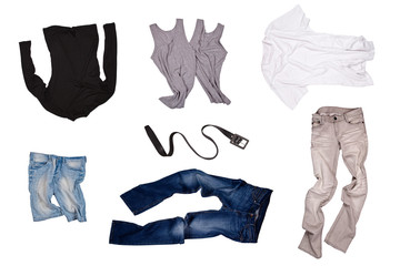set of fashionable clothers