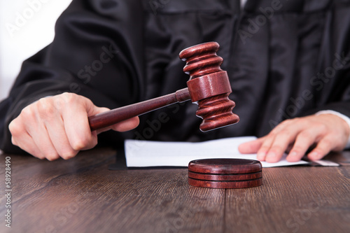 Judge Holding Mallet