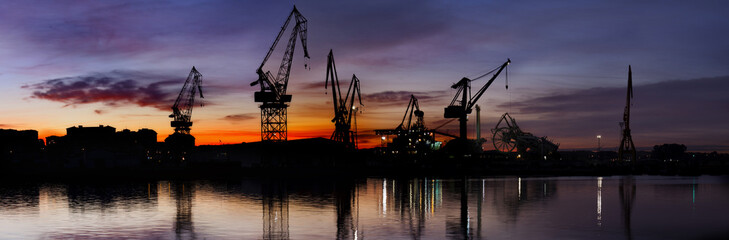 Industrial zone.Big panorama.