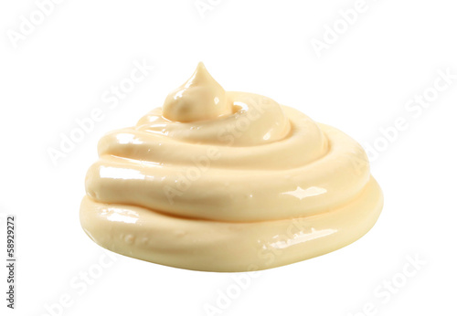 Swirl of thick creamy sauce